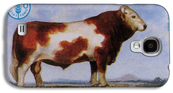 Simmental Bull Galaxy S4 Case by Lanjee Chee