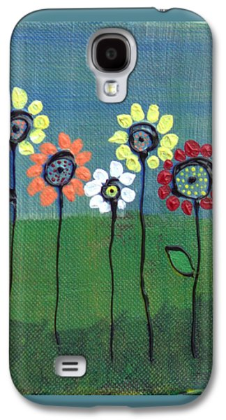 Botanical Galaxy S4 Cases - Simple Flower #2 Galaxy S4 Case by Lorelle Carr