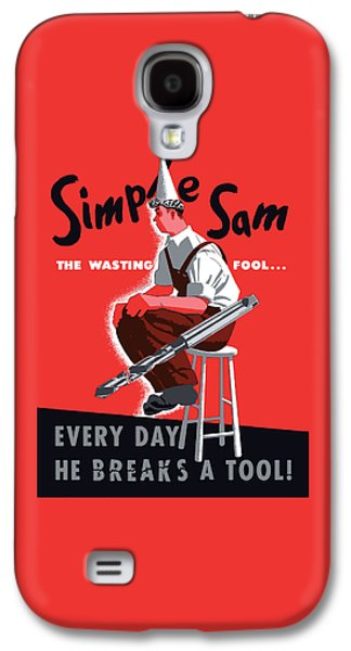 Waste Galaxy S4 Cases - Simple Sam The Wasting Fool Galaxy S4 Case by War Is Hell Store