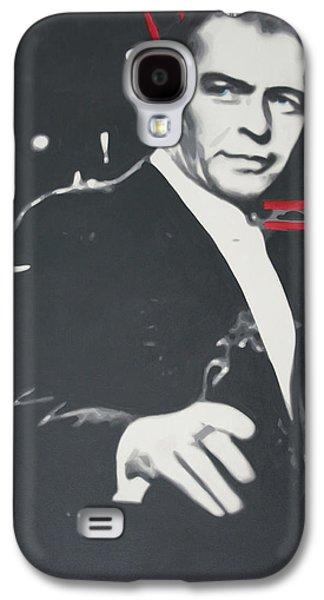 Frank Sinatra Paintings Galaxy S4 Cases - Sinatra 2013 Galaxy S4 Case by Luis Ludzska