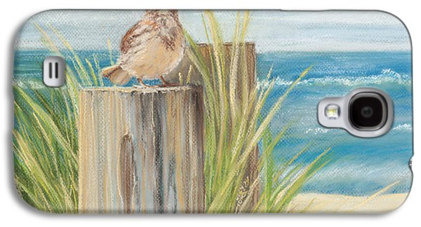 Beach Landscape Pastels Galaxy S4 Cases - Singing Greeter at the Beach Galaxy S4 Case by Michelle Wiarda