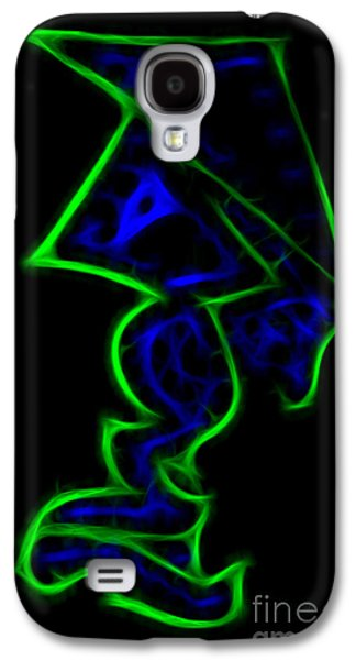 Abstract Digital Drawings Galaxy S4 Cases - Sino Flux Galaxy S4 Case by Neon Flash
