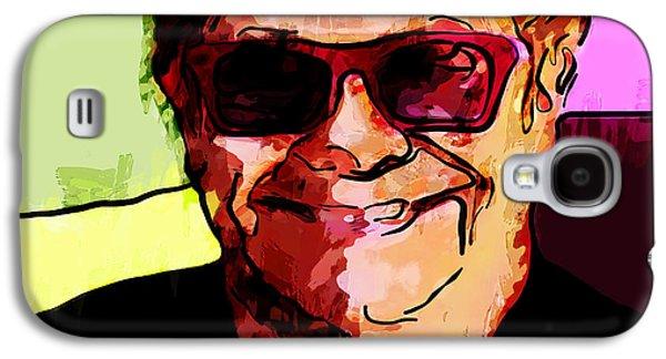 Elton John Paintings Galaxy S4 Cases - Sir Elton John Galaxy S4 Case by Vya Artist