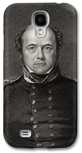 Franklin Drawings Galaxy S4 Cases - Sir John Franklin 1786 To 1847 Galaxy S4 Case by Ken Welsh
