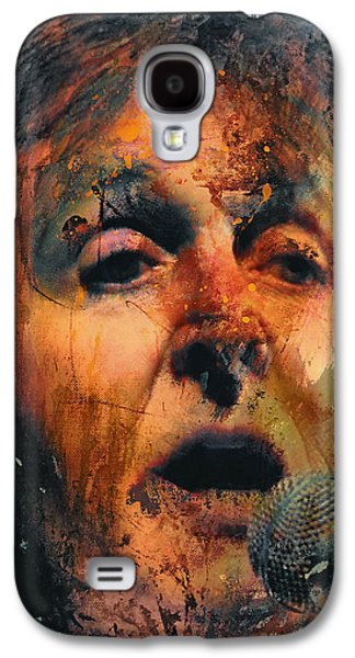 Recently Sold -  - Nature Abstracts Galaxy S4 Cases - Sir Paul Singing Galaxy S4 Case by Yury Malkov
