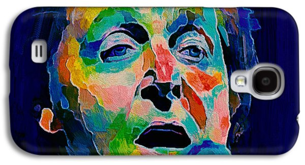 Beatles Galaxy S4 Cases - Sir Paul Vibrant Galaxy S4 Case by Yury Malkov