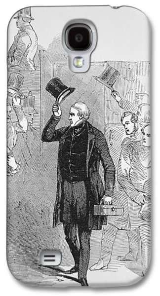 Police Officer Galaxy S4 Cases - Sir Robert Peel arriving at the House of Commons Galaxy S4 Case by English School