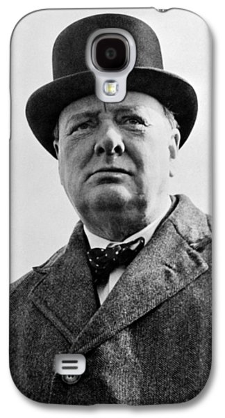 Sir Winston Churchill Galaxy S4 Case by War Is Hell Store