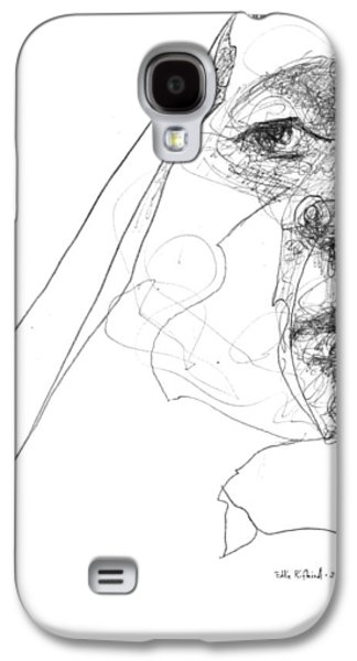 Sisters Drawings Galaxy S4 Cases - Sister Galaxy S4 Case by Eddie Rifkind
