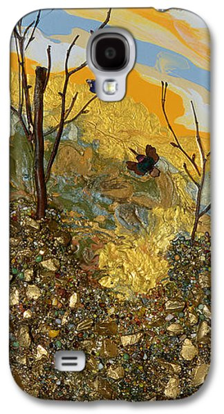 Modern Abstract Galaxy S4 Cases - Sitting On A Gold Mine Galaxy S4 Case by Donna Blackhall