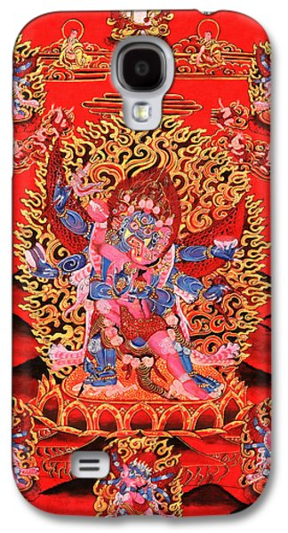 Siddharta Galaxy S4 Cases - Six-Armed Winged Mahakala in Yab Yum Galaxy S4 Case by Lanjee Chee