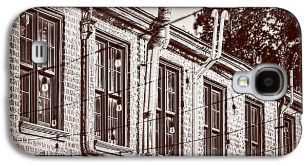 Business Galaxy S4 Cases - Six in a Row - Monochrome by fleblanc Galaxy S4 Case by F Leblanc