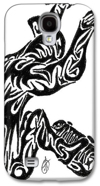 Abstract Digital Drawings Galaxy S4 Cases - Skate Galaxy S4 Case by AR Teeter