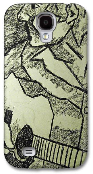 Surrealism Pastels Galaxy S4 Cases - Sketch - Guitar Man Galaxy S4 Case by Kamil Swiatek