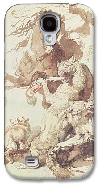 Sketch For A Wolf Hunt Galaxy S4 Case by Peter Paul Rubens