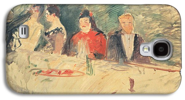 Loose Style Galaxy S4 Cases - Sketch For The Supper Galaxy S4 Case by Henri De Toulouse-Lautrec