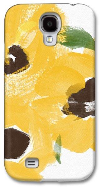 Sketchbook Sunflowers- Art By Linda Woods Galaxy S4 Case by Linda Woods