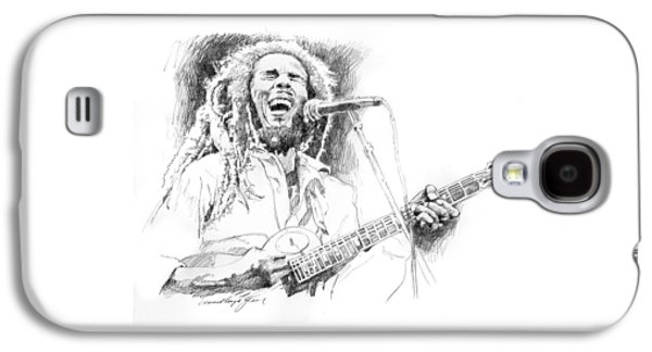 Jamaican Paintings Galaxy S4 Cases - Sketches Of Bob Marley Galaxy S4 Case by David Lloyd Glover