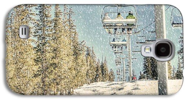 Chair Galaxy S4 Cases - Ski Colorado Galaxy S4 Case by Juli Scalzi
