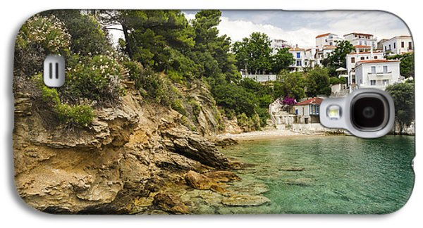 Nature Scene Pyrography Galaxy S4 Cases - Skiathos Island Greece Galaxy S4 Case by Jelena Jovanovic