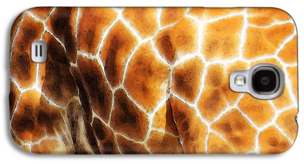 Giraffe Digital Galaxy S4 Cases - Skin Deep - Buy Giraffe Art Prints Galaxy S4 Case by Sharon Cummings