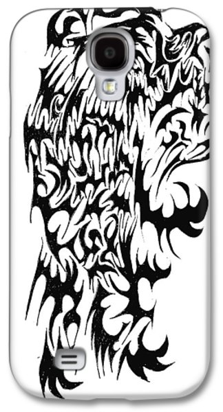 Abstract Digital Drawings Galaxy S4 Cases - Skinwalker Galaxy S4 Case by AR Teeter