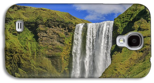 Green Galaxy S4 Cases - Skogafoss waterfall Galaxy S4 Case by Patricia Hofmeester