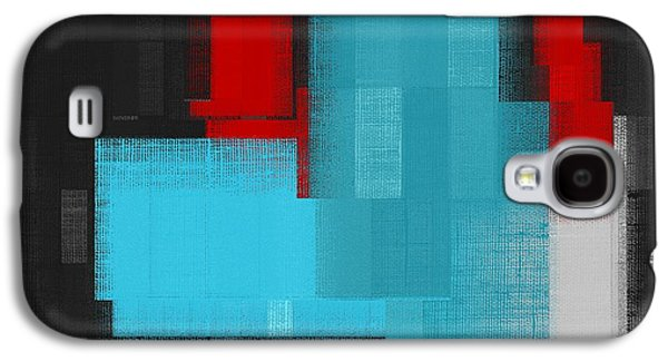 Red Abstracts Digital Galaxy S4 Cases - Skouarios 02a - j036103206 Galaxy S4 Case by Variance Collections
