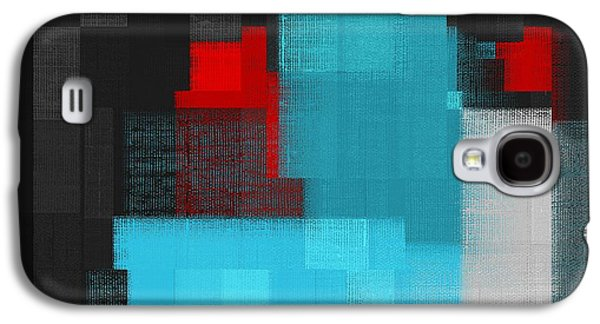 Blue Abstracts Galaxy S4 Cases - Skouarios 02a - j049097164 Galaxy S4 Case by Variance Collections