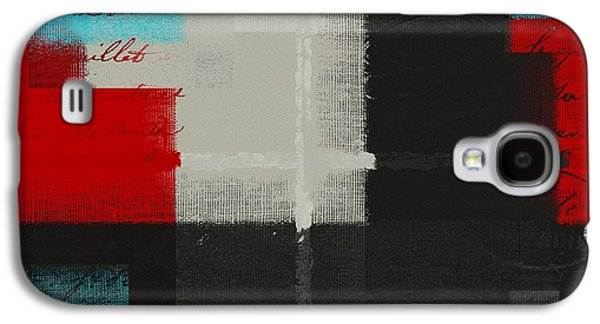 Red Abstracts Digital Galaxy S4 Cases - Skouarios 04ttx - j103103052 Galaxy S4 Case by Variance Collections
