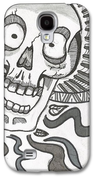 Drawing Galaxy S4 Cases - Skull Galaxy S4 Case by Kyle H