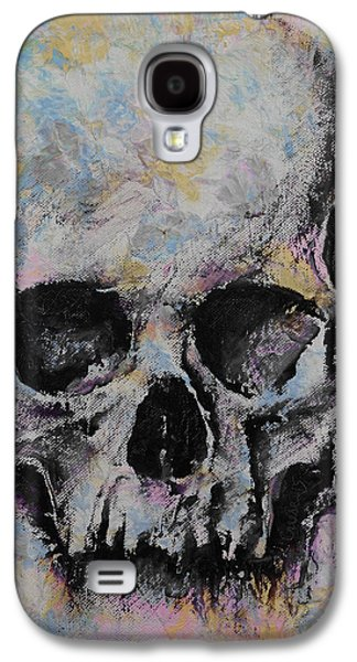 Trippy Paintings Galaxy S4 Cases - Medieval Skull Galaxy S4 Case by Michael Creese