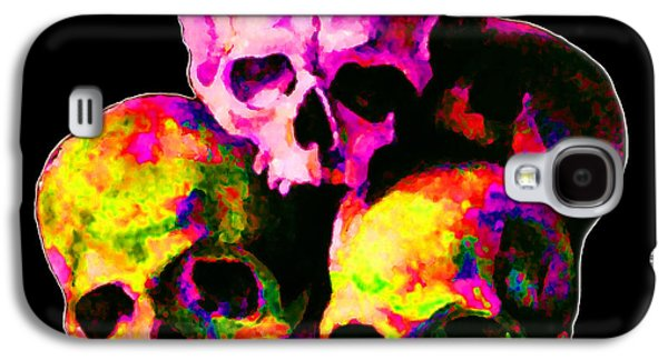 Abstract Digital Galaxy S4 Cases - Skulls Galaxy S4 Case by Vicky Brago-Mitchell