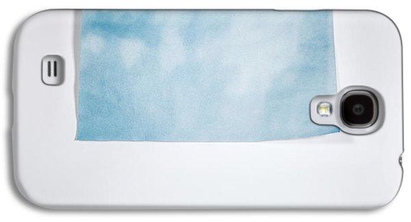 Sky Blue On White Galaxy S4 Case by Scott Norris