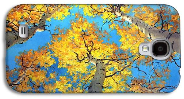 Sky High Aspen Trees Galaxy S4 Case by Gary Kim