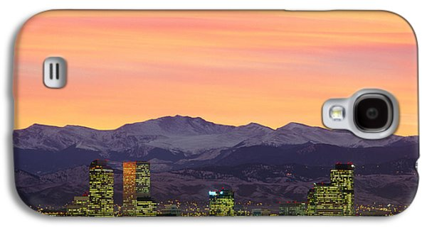 Skyline And Mountains At Dusk, Denver Galaxy S4 Case by Panoramic Images