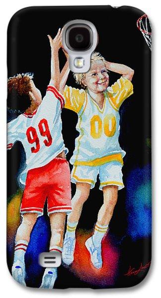 Kids Sports Art Galaxy S4 Cases - Slam Dunk Galaxy S4 Case by Hanne Lore Koehler
