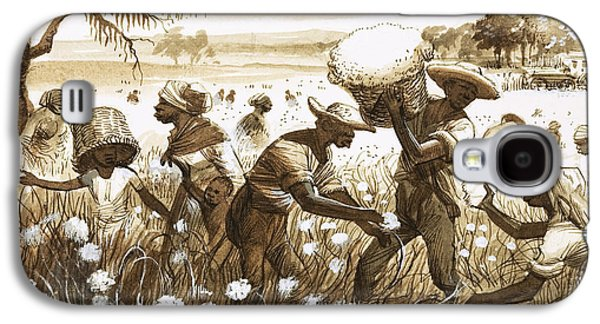 Slave Galaxy S4 Cases - Slaves picking cotton Galaxy S4 Case by English School