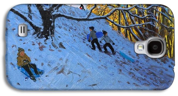 Sledge Galaxy S4 Cases - Sledging Allestree Golf course Galaxy S4 Case by Andrew Macara