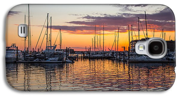 Sailboats In Harbor Galaxy S4 Cases - Sleeping Boats Galaxy S4 Case by Karol  Livote