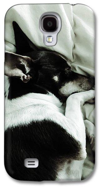 Girl Galaxy S4 Cases - Sleeping Squib Galaxy S4 Case by Heather Joyce Morrill