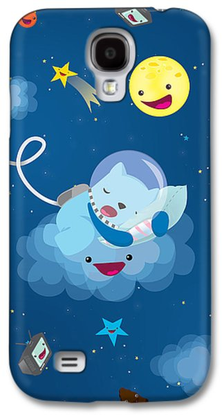 Child Galaxy S4 Cases - Sleepy in space Galaxy S4 Case by Seedys