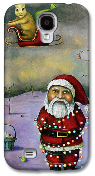 Winter Paintings Galaxy S4 Cases - Sleigh Jacker Galaxy S4 Case by Leah Saulnier The Painting Maniac