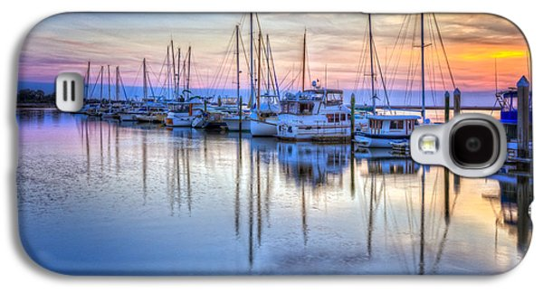 Waterscape Galaxy S4 Cases - Sliding into Sunset Galaxy S4 Case by Debra and Dave Vanderlaan