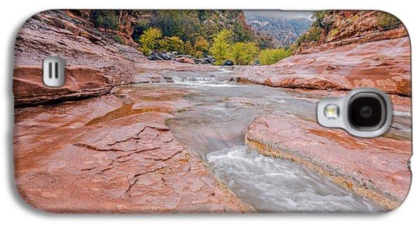 Oak Creek Photographs Galaxy S4 Cases - Slip and Slide Galaxy S4 Case by Aron Kearney Fine Art Photography