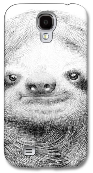 Sloth Drawings Galaxy S4 Cases - Sloth Galaxy S4 Case by Eric Fan