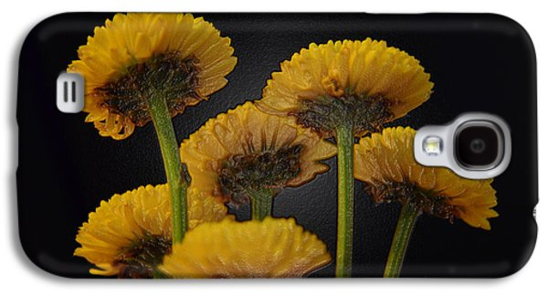 Digital Galaxy S4 Cases - Small Yellow Mums Galaxy S4 Case by Sandi OReilly