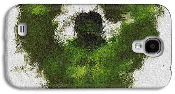 Character Portraits Galaxy S4 Cases - Smashing Green Galaxy S4 Case by Miranda Sether