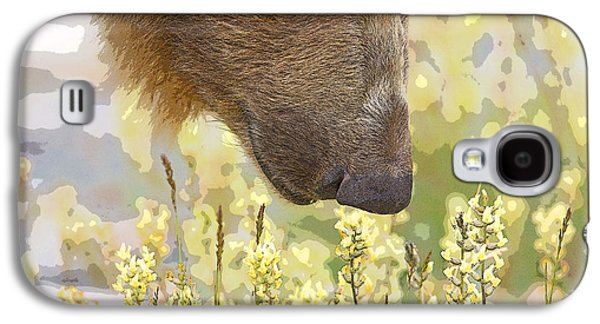 Abstract Digital Photographs Galaxy S4 Cases - Smelling the Flowers- Abstract Galaxy S4 Case by Tim Grams