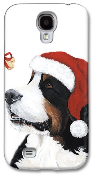 Sleeping Dog Galaxy S4 Cases - Smile its Christmas Galaxy S4 Case by Liane Weyers